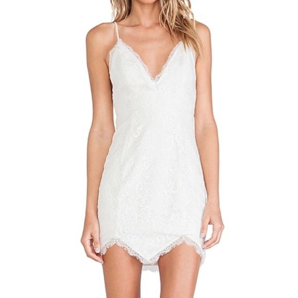 NBD look back at it white lace mini dress. M 5aa8a451daa8f6da378f458b 9d9a46848